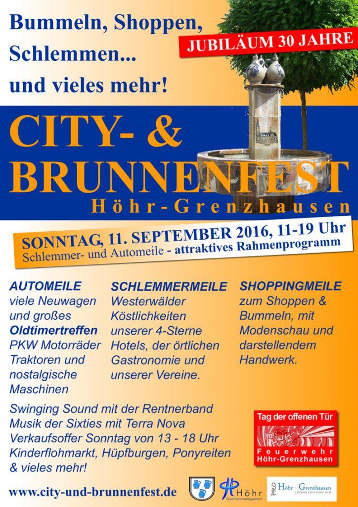 Plakat City und Brunnenfest 2016 web