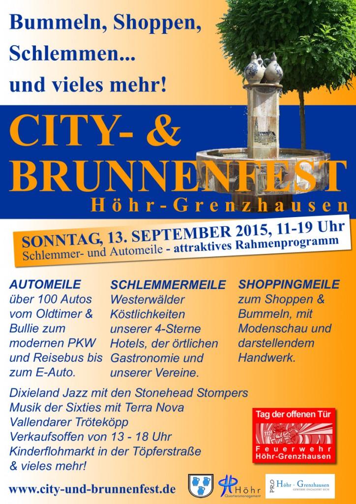 Plakat City und Brunnenfest 2015 web